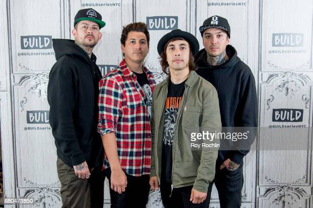 Musicians Mike Fuentes Jamie Preciado Vic Fuentes and Tony Perry of the band Pierce The Veil discuss the 'We Will Detonate' tour with the Build...