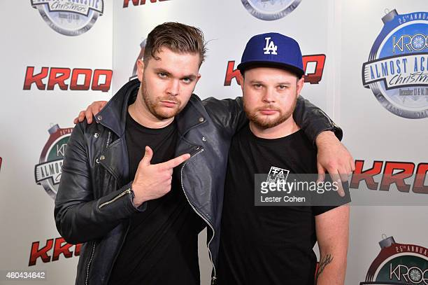 Musicians Mike Kerr and Ben Thatcher of Royal Blood attend day one of the 25th annual KROQ Almost Acoustic Christmas at The Forum on December 13 2014...