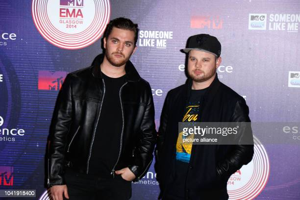 Musicians Mike Kerr Ben Thatcher of Royal Blood attend the 20th MTV EMAs in Glasgow UK on 09 November 2014 Photo Hubert Boesl NO WIRE SERVICE  |...