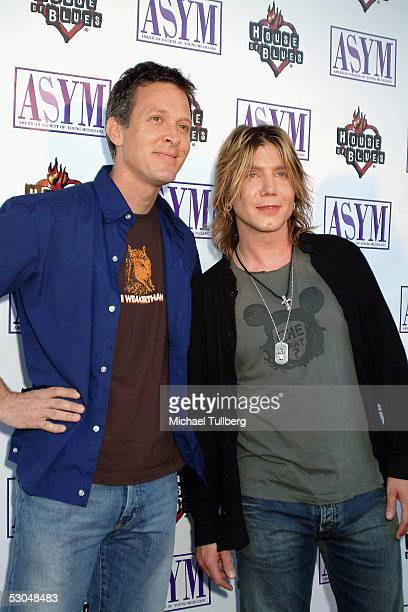 Musicians Mike Malinin and Johnny Rzeznik of the Goo Goo Dolls arrive at the American Society of Young Musicians' 13th Annual Spring Concert Awards...
