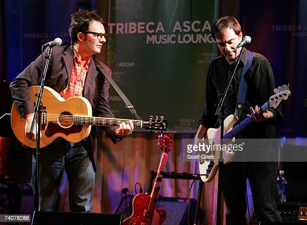 Musicians Mike Viola and Adam Schlesinger performs onstage at the ASCAP / Tribeca Music Lounge at The 2007 Tribeca Film Festival on May 4 2007 in New...