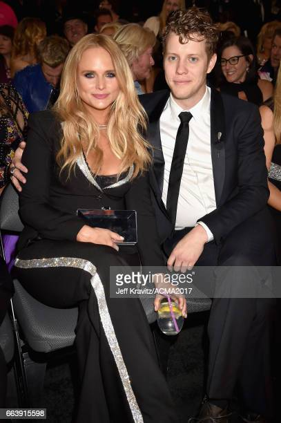Musicians Miranda Lambert and Anderson East attend the 52nd Academy Of Country Music Awards at TMobile Arena on April 2 2017 in Las Vegas Nevada