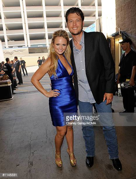 ACCESS*** Musicians Miranda Lambert and Blake Shelton backstage at the 43rd annual Academy Of Country Music Awards held at the MGM Grand Garden Arena...