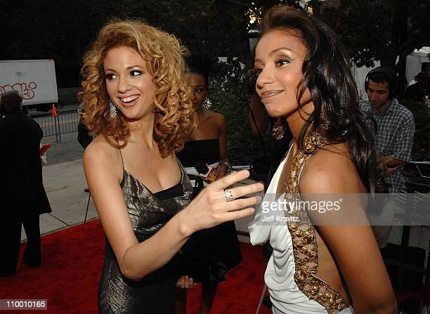 Musicians Miri BenAri and Mya arrive at VH1's Save The Music 10th Anniversary Gala at The Tent at Lincoln Center on September 20 2007 in New York City