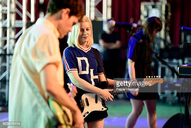 Musicians Molly Rankin anad Kerri MacLellan of Alvvays perform onstage during day 2 of the 2016 Coachella Valley Music Arts Festival Weekend 2 at the...