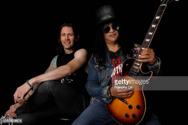 Musicians Myles Kennedy and Slash are photographed for Los Angeles Times on September 8 2018 in North Hollywood California PUBLISHED IMAGE CREDIT...