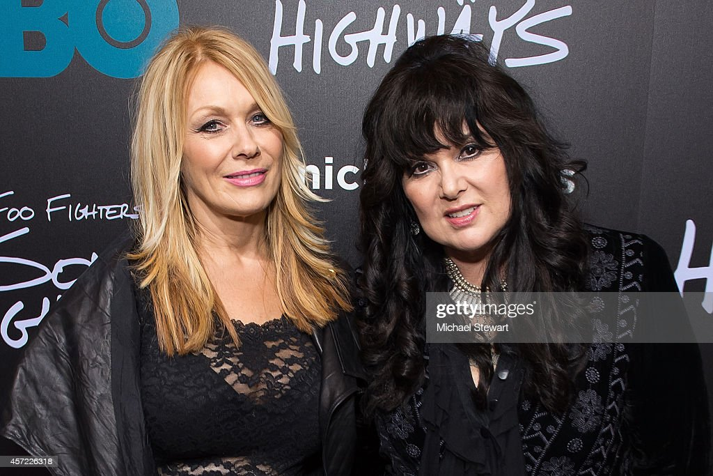 Musicians Nancy Wilson (L) and Ann Wilson of Heart attend 'Foo Fighters: Sonic Highways' New York Premiere at Ed Sullivan Theater on October 14, 2014 in New York City.