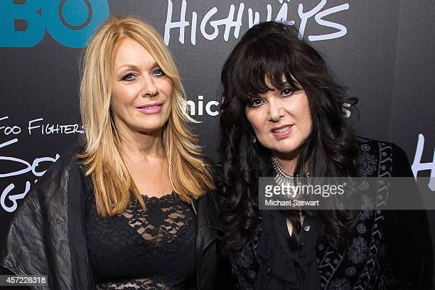 Musicians Nancy Wilson and Ann Wilson of Heart attend 'Foo Fighters Sonic Highways' New York Premiere at Ed Sullivan Theater on October 14 2014 in...