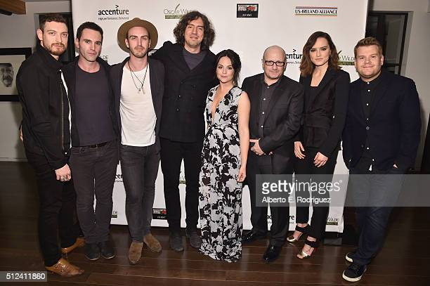 Musicians Nathan Connolly,Johnny McDaid, Paul Wilson, Gary Lightbody, actors Sarah Greene, director Lenny Abrahamson, actors Daisy Ridley and James...