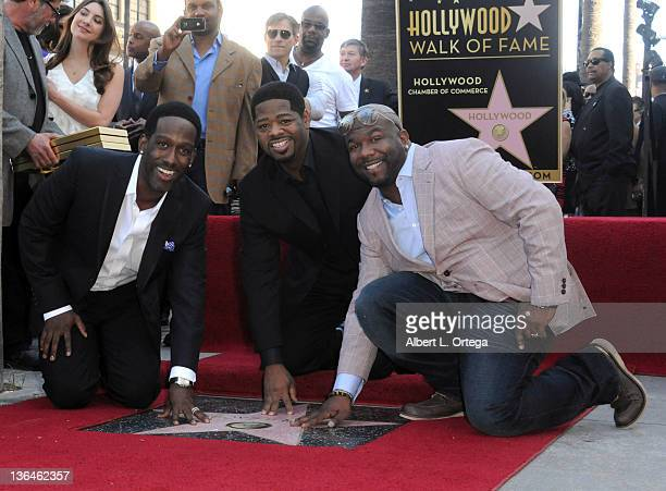 Musicians Nathan Morris Shawn Stockman and Wanya Morris of Boyz II Men Honored On The Hollywood Walk Of Fame held at 7060 Hollywood Blvd on January 5...