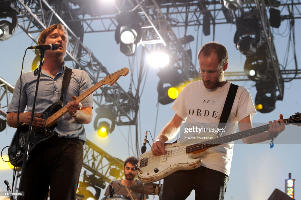 Musicians Nathan Willett (L) and Matt Maust of the band Cold War Kids perform during Day 1 of the Coachella Valley Music & Arts Festival 2011 held at the Empire Polo Club on April 15, 2011 in Indio, California.
