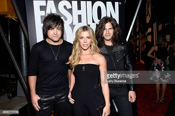 Musicians Neil Perry Kimberly Perry and Reid Perry from The Band Perry attend Fashion Rocks 2014 presented by Three Lions Entertainment at the...