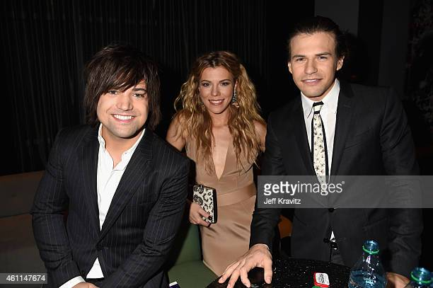 Musicians Neil Perry Kimberly Perry and Reid Perry of The Band Perry attend The 41st Annual People's Choice Awards at Nokia Theatre LA Live on...