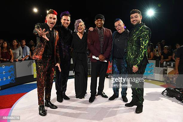 Musicians Nicholas Petricca Kevin Ray of Walk the Moon TV personalities Kelly Osbourne Sway musicians Sean Waugaman and Eli Maiman of Walk the Moon...