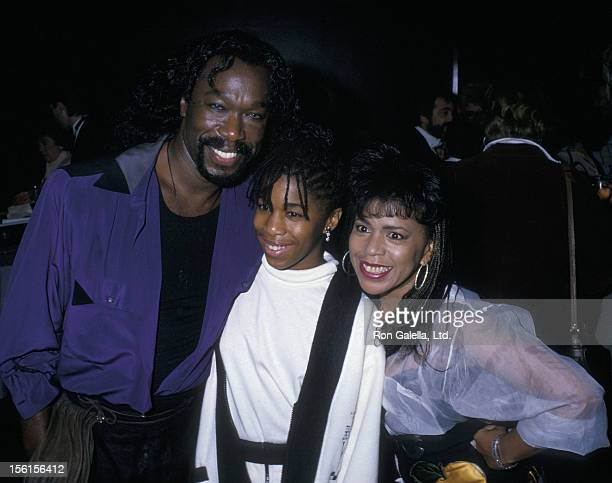 Musicians Nickolas Ashford and Valerie Simpson and daughter Nicole Ashford attending 'Moscow Circus Performance' on September 15 1988 at Radio City...