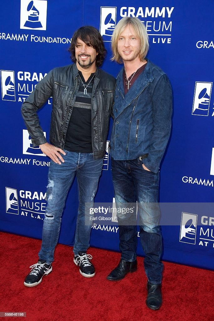 Musicians Noah Hunt (L) and Kenny Wayne Shepherd attend the GRAMMY Foundation's 'Icon: The Life And Legacy Of B.B. King at Wallis Annenberg Center for the Performing Arts on September 1, 2016 in Beverly Hills, California.