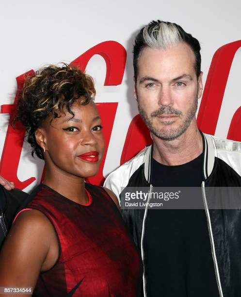 Musicians Noelle Scaggs and Michael Fitzpatrick of Fitz and the Tantrums attend the grand opening of Westfield Century City at Westfield Century City...