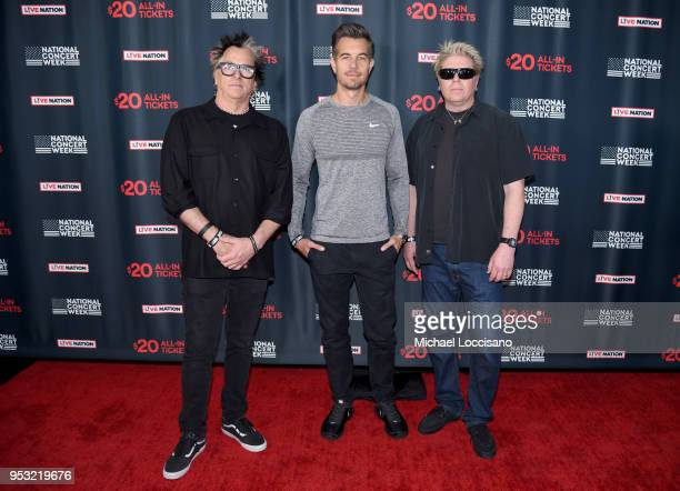 Musicians Noodles , Dexter Holland of Offspring and Nick Hexum of 311 attend Live Nation's celebration of the 4th annual National Concert Week at...