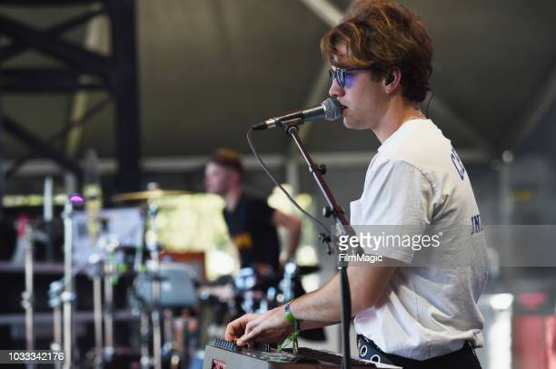 Musicians of Bishop Briggs perform on the Scissor Stage during day 1 of Grandoozy on September 14 2018 in Denver Colorado