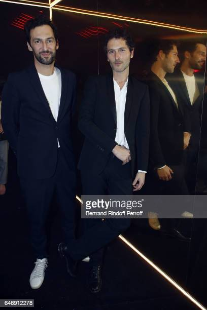 Musicians Olivier Coursier and Simon Buret attend Yves Saint Laurent Beauty Party as part of the Paris Fashion Week Womenswear Fall/Winter 2017/2018...