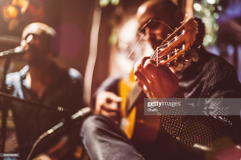 Musicians on A Stage : Stock Photo