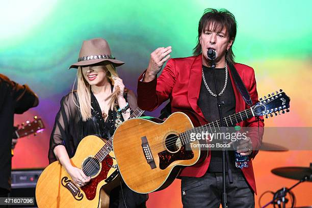 Musicians Orianthi and Richie Sambora perform on stage during the 32nd annual ASCAP Pop Music Awards held at Lowes Hollywood Hotel on April 29 2015...