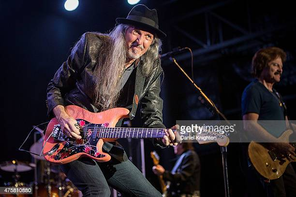 Musicians Pat Simmons and Tom Johnston of The Doobie Brothers perform on stage at Humphrey's Concerts By The Bay on June 3, 2015 in San Diego,...