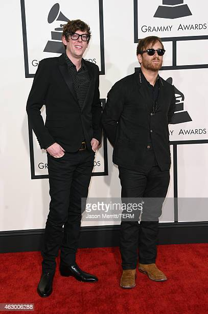 Musicians Patrick Carney and Dan Auerbach of the Black Keys attend The 57th Annual GRAMMY Awards at the STAPLES Center on February 8 2015 in Los...
