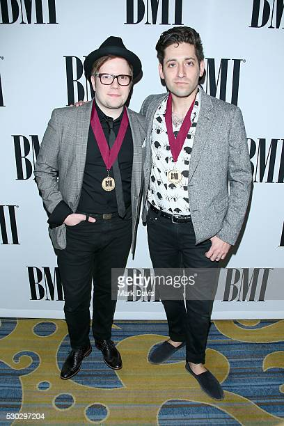 Musicians Patrick Stump and Joe Trohman of Fall Out Boy attend the 64th Annual BMI Pop Awards held at the Beverly Wilshire Four Seasons Hotel on May...