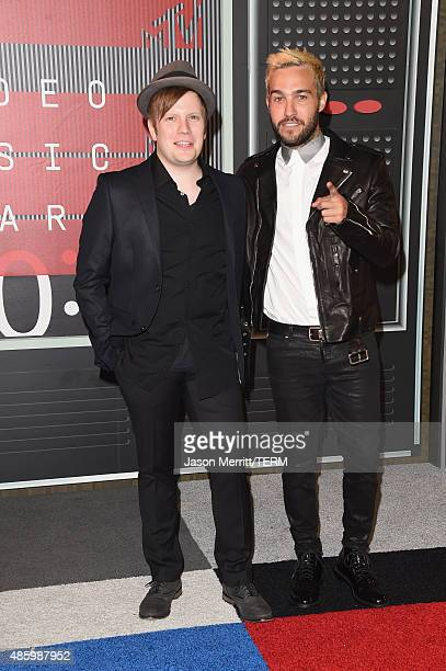 Musicians Patrick Stump and Pete Wentz of Fall Out Boy attend the 2015 MTV Video Music Awards at Microsoft Theater on August 30 2015 in Los Angeles...