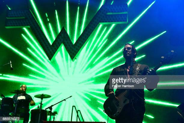 Musicians Patrick Wilson and Scott Shriner of the band Weezer perform at the Surf Stage during 2017 Hangout Music Festival on May 19 2017 in Gulf...