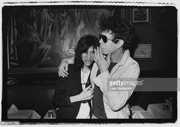 Musicians Patti Smith and Lou Reed