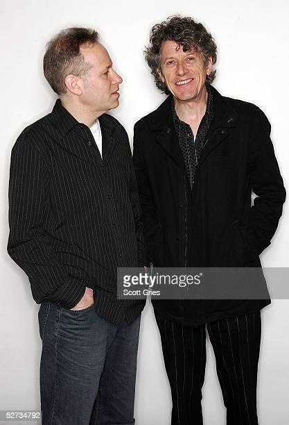 Musicians Paul Buchanan and Larry Saltzman pose for a portrait during the Tribeca Film Festival at the Tribeca Grand Hotel April 29 2005 in New York...