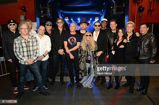 Musicians Paul Dean Ken Sinnaeve Doug Johnson Matt Frenette and Mike Reno of Loverboy Rick Springfield Curt Smith of Tears for Fears Boy George of...
