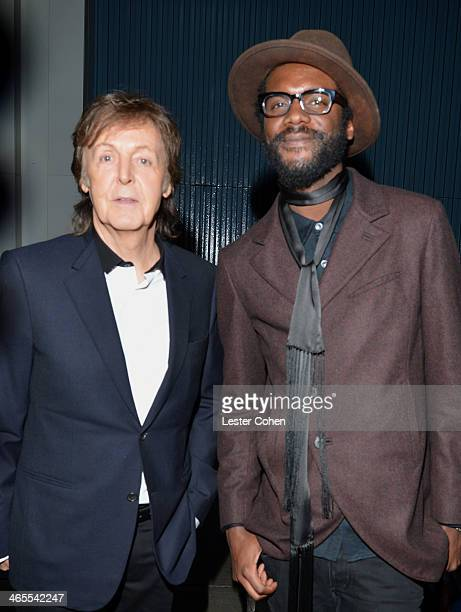 Musicians Paul McCartney and Gary Clark Jr attend The Night That Changed America A GRAMMY Salute To The Beatles at the Los Angeles Convention Center...