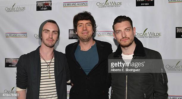 Musicians Paul Wilson Gary Lightbody and Nathan Connolly of Snow Patrol attend the 9th Annual Oscar Wilde Honoring The Irish In Film PreAcademy...