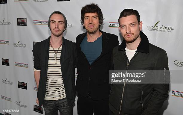 """Musicians Paul Wilson, Gary Lightbody and Nathan Connolly of Snow Patrol attend the 9th Annual """"Oscar Wilde: Honoring The Irish In Film"""" Pre-Academy..."""