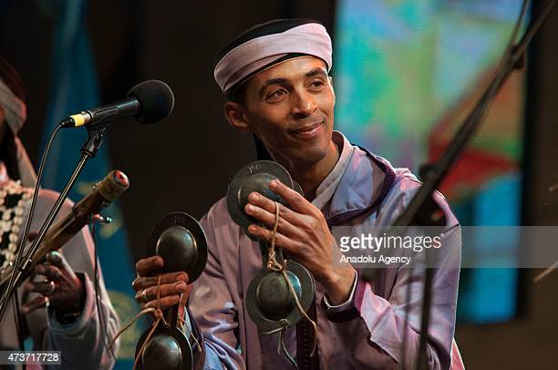Musicians perform during 18th Annual Gnaoua Music Festival in Essaouira Morocco on May 16 2015