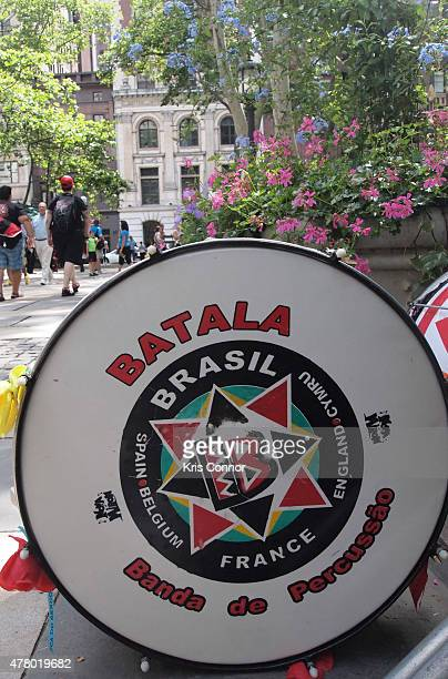 Musicians perform during Sousapalooza at Bryant Park during Make Music Day 2015 on June 21 2015 in New York City