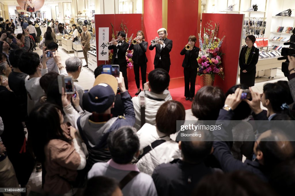 Japan's New Emperor Naruhito Ascends Chrysanthemum Throne : News Photo