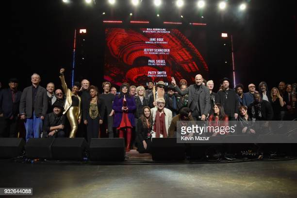 Musicians perform onstage at the Second Annual LOVE ROCKS NYC A Benefit Concert for God's Love We Deliver at Beacon Theatre on March 15 2018 in New...
