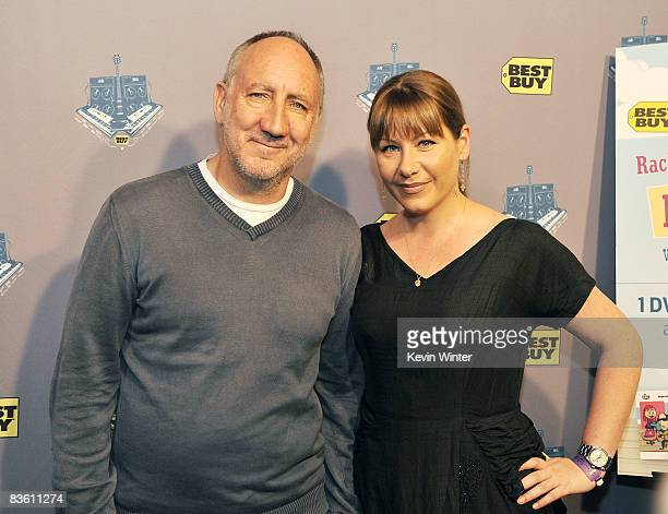 Musicians Pete Townshend and Rachel Fuller arrive at Rachel Fuller's In The Attic presented by Best Buy at the Troubador on November 7 2008 in West...