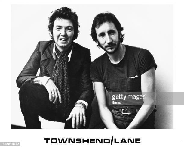 Musicians Pete Townshend and Ronnie Lane circa 1976