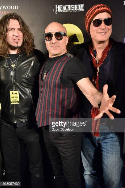 Musicians Phil X Kenny Aronoff and Robert DeLeo attend the Adopt the Arts annual rock gala at Avalon Hollywood on January 31 2018 in Los Angeles...