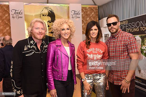 Musicians Philip Sweet Kimberly Schlapman Karen Fairchild and Jimi Westbrook of Little Big Town attend the GRAMMY Gift Lounge during The 58th GRAMMY...