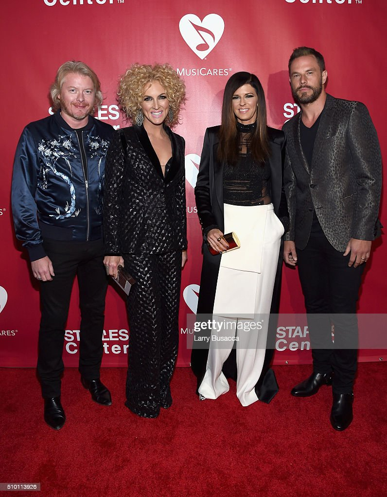 Musicians Philip Sweet, Kimberly Schlapman, Karen Fairchild, and Jimi Westbrook of Little Big Town attend the 2016 MusiCares Person of the Year honoring Lionel Richie at the Los Angeles Convention Center on February 13, 2016 in Los Angeles, California.