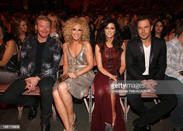 Musicians Phillip Sweet Kimberly Roads Schlapman Karen Fairchild and Jimi Westbrook of Little Big Town attend the 2012 American Country Awards at the...