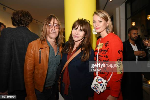 Musicians Pierre Emery Gil Lesagefrom Ultra Orange band and Pauline de Drouas attend the Lignee by jean Charles de Castelbajac Father an sons hosted...