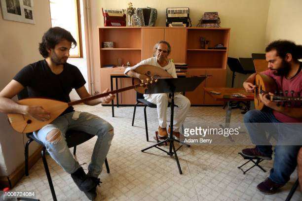 Musicians play a saz and ouds during Yiddish Summer Weimar on July 27, 2018 in Weimar, Germany. The annual five-week summer institute and festival,...