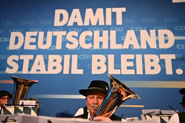 DEU: Christian Democrats (CDU/CSU) Hold Closing Rally Ahead Of Parliamentary Elections